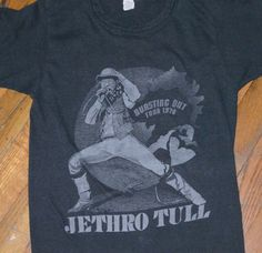 1230842fa71 1978 JETHRO TULL vintage concert tour rare original rock-n-roll band music t -shirt (S XS) Small 70s 1970s tee Gift