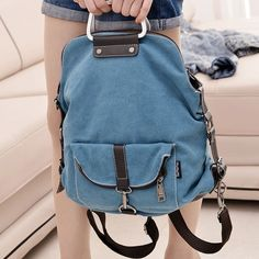 2017 New Fashion Korean Women Backpacks Women's Canvas Shoulder Bags School Bag for Woman Manufacturers Wholesale