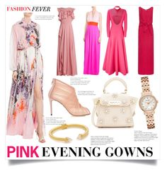 """""""Fashion Trendspotting - Pink Floral Evening Gowns"""" by bonnielindsay ❤ liked on Polyvore featuring Roberto Cavalli, Elie Saab, Emilio Pucci, Emilia Wickstead, Nina Ricci, Dolce&Gabbana, Vita Fede, Kate Spade and ZAC Zac Posen"""