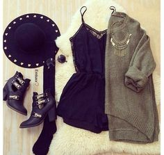 Image via We Heart It https://weheartit.com/entry/142975397/via/23011322 #accessories #black #clothes #cute #dress #fashion #glasses #hat #jackets #love #necklace #new #night #outfit #pretty #sexy #shoes #style #sweater #teen