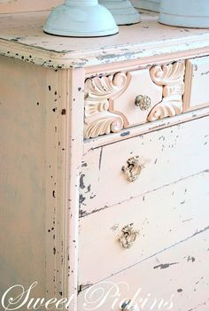 Adding That Perfect Gray Shabby Chic Furniture To Complete Your Interior Look from Shabby Chic Home interiors. Distressed Furniture, Shabby Chic Furniture, Vintage Furniture, Painted Furniture, Distressed Dresser, Shabby Chic Cottage, Shabby Chic Homes, Shabby Chic Decor, Rose Cottage
