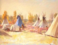 The Blue Teepee by Joseph Henry Sharp | Art Posters & Prints