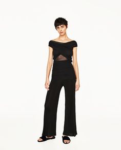 ZARA - WOMAN - DRAPED TOP WITH KNIT BACK