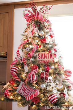 Oh Christmas Tree(s), Oh Christmas Tree(s) - Craft Crazy Mom- candy cane Christmas tree