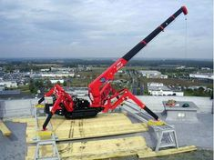The mini crane is an ideal alternative to the larger crane, it gives the operators a lot of options when it comes to lifting different kinds of loads. #cranes #minicrane #machinery