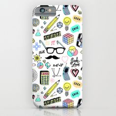 cute geek chic collage phone case
