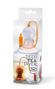 Kitchen Fred and Friends Deep Tea Diver Infuser Gadget Novelty Tea New Free Ship Tea Strainer, Tea Infuser, Deep Sea Diver, Kitchen Gadgets, Kitchen Utensils, Kitchen Dining, Cool Gadgets, Popcorn Maker, Spice Things Up