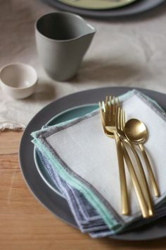 Glam up your festive table setting with the Due Ice Oro Flatware Collection by Italian design house MEPRA.