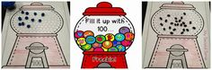 Fill It up with 100...100th Day FREEBIE...cute and easy idea