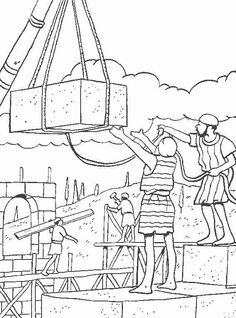 nehemiah bible study for kids coloring pages | Rebuilding the Temple - Bible Coloring Pages | Bible ...