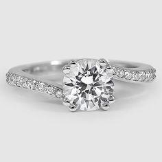 A twist on the classic engagement ring