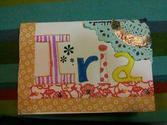Tarjeta de felicitación, Iria 10 años