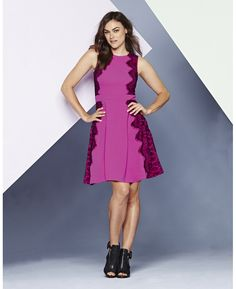 """""""Simply Be"""" Simply Be Pink Lace Skater Dress at Simply Be size 8 to 28"""
