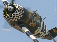 Over 2,000 hp of P W R-2800 Double Wasp Engine roars overhead at the Flying Legends Airshow, Duxford, UK.