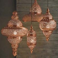 Copper Moroccan Hanging Lamp, dont like this exact one. But i would love the effect that the light would give on your wall