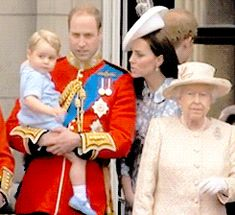 george waving-kate and william beaming with pride!