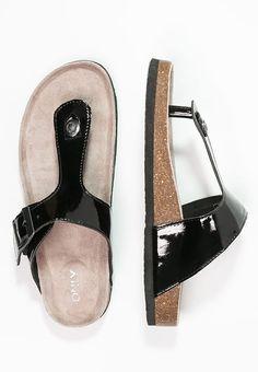 4GZfgjba1G RAMSES - T-bar sandals - grau TWcsRYrCw