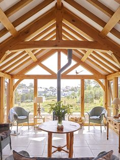 Oak framed garden rooms | Arboreta Timber Frame Homes, Timber Frames, Orangery Extension, Gazebo, Pergola, Oak Frame House, House Extensions, Bungalow, The Help