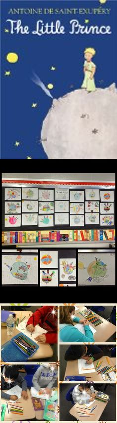 """I read The Little Prince aloud to my 3rd grade class.  We stopped after a few chapters to do some drawing in response to their reading.  The kids might not have the life experiences to really """"get"""" a lot of the moralistic aspects of the book, but they have enjoyed listening to it and talking about it and definitely enjoyed this activity!"""