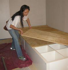 Ikea Hack DIY Storage Bed