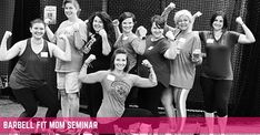 """Barbell Fit Mom Seminar: Join a Barbell Fit Mom Seminar and be ready to train, learn & grow! Engage the Eat. Train. Recover. philosophy for lean body results & building YOUR strength. Your confidence will grow when you learn the Low-Impact lifts like the dead lift safely & effectively along with the """"How to's"""" of scientific dieting including macro nutrition. Coaching for women you will love!"""