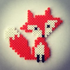 Fox hama perler beads by piafandthepuffin