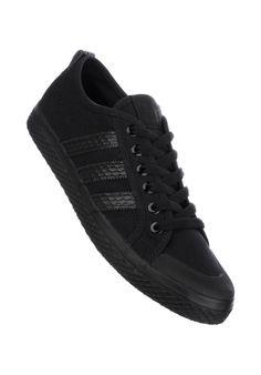 adidas Honey-Low-W, black-black-white #ShoeWomen #ShoesFemale #titus #titusskateshop