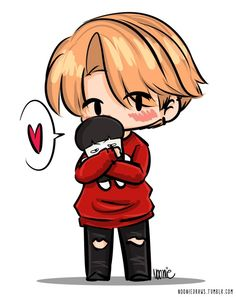 jimin - chibi - cute - bts - fanart All credits go to the original owner