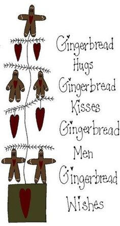 gingerbread hugs and kisses