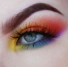 Colourful Eye Makeup Gearing up for Pride and we cant wait to see all your Rainbow Eyeshadow colourful Eye Gearing Makeup Pride wait Eye Makeup Glitter, Eye Makeup Art, Colorful Eye Makeup, Eye Makeup Remover, Cute Makeup, Smokey Eye Makeup, Makeup Looks, Party Eye Makeup, Makeup Box