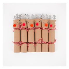 6 Christmas reindeer crackers