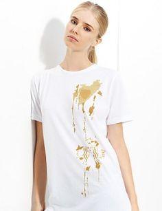 spilt coffee tshirt for starbucks