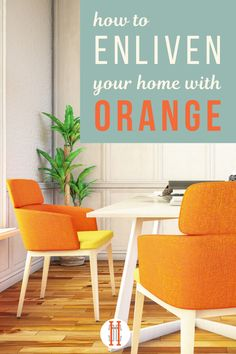 We are wild about orange in home decor, it is such a bright energizing color. The color psychology of orange tells us that orange will improve communication and harmony in your space, bringing happiness and energy. Learn how to incorporate orange into your home decor, in your living room, bedroom, kids bedroom, kitchen, dining room, bathroom, foyer, and other space. We also share popular combinations like orange and white, orange and blue, orange and gray. Hadley Court Interior Design blog.