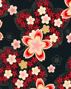 New Japanese Art Wallpaper Cherry Blossoms Ideas Japanese Quilts, Japanese Textiles, Japanese Patterns, Japanese Paper, Japanese Fabric, Decoupage Vintage, Asian Fabric, Oriental Print, Japanese Drawings