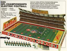 The No. 11 ranked Electric Football game of all-time. The 1973 Tudor NFL Championship No. 655