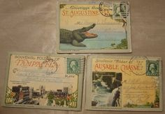 1919 Souvenir Postcard Folders Stamped Florida by DLSpecialties