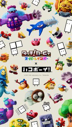 Kirby and the Rainbow Curse X Box Boy wallpaper (640 ×1136)
