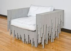 Strange furniture | unusual material chair2 Furniture made with odd and unusual materials ...