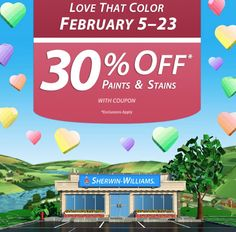 Sherwin Williams: 30% Off Paints & Stains Coupon