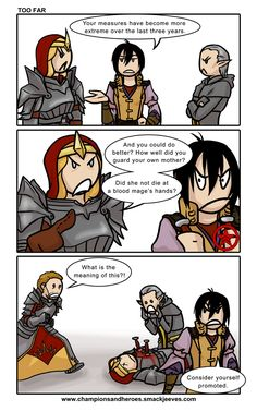 What should have happened!   Champions and Heroes: [DA2, bit spoily] Too far by Ddriana on DeviantArt