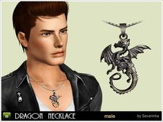 The Sims 3: Dragon necklace (also available as a bracelet for males and females)