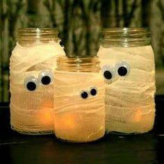 Mummy glass jars