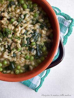 Zuppetta di orzo allo zenzero, ricetta light&veg.