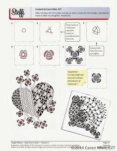 Tangle pattern: Steffi