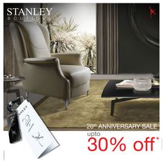 Enjoy the exquisite exclusivity  Stanley Sofas define a lifestyle that stands for luxury and exclusivity and now they come exclusively for you with a special offer. Don't miss it! http://bit.ly/1qto0Xr #LoveStanley #FinestLeathers #Quality #Sofas #Oddchairs #20YearsofPassion #AnniversarySale