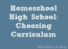 High School Homeschool Curriculum /check out the Teaching Textbooks Math Curr. Awesome!