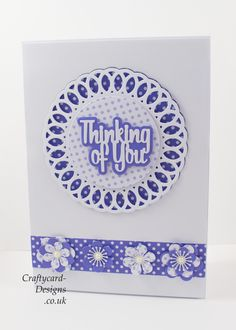 Handmade Card : This card has been made using Paper Boutique Doily Collection Cutting Dies from Creative Crafting World