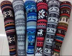 Winter leggings on Etsy, $12.99