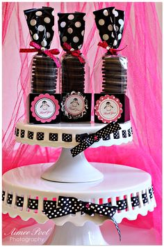 Penguin Party :: black, white, use blue ribbons instead! Barbie Birthday, Barbie Party, Baby 1st Birthday, Sweet 16 Birthday, Birthday Parties, Penguin Birthday, Penguin Party, Bear Party, Penguin Baby Showers