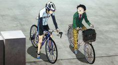 """YowaPeda ~~ Onoda on his """"mamachuri"""" and Imaizumi on his road racer"""
